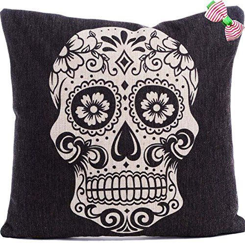 Caryko Home Decor Cotton Linen Square Pillowcase Skull Skeleton Printed Throw Pillow Cover (Skull-White) Caryko http://www.amazon.com/dp/B00XRQQYY0/ref=cm_sw_r_pi_dp_G8awvb02RQQHY