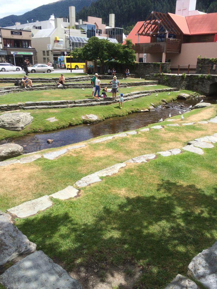 Lovely little stream in downtown Queenstown