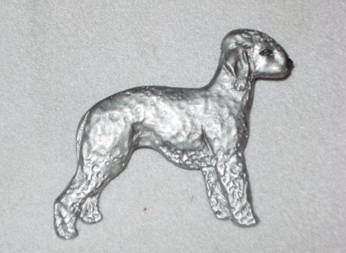 Bedlington Terrier Handpaintd Dog Resin Pin~Brooch.dog jewelry~Beautifully done!