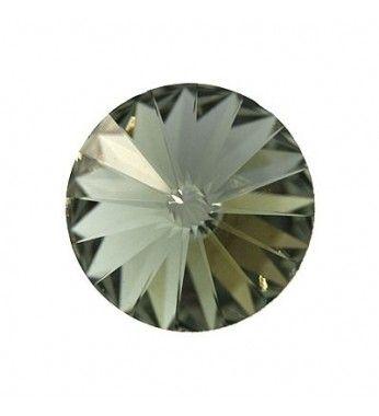 12MM Black Diamond F (215) 1122 Rivoli Chaton SWAROVSKI ELEMENTS.  Ümmargused kivikesed ( kristallid ) SWAROVSKI ELEMENTS on kristall elemente, mida palju kasutatakse käsitöös ja kaunistamiseks interjoori.   1122 Rivoli Chaton Ümmargused Kristallid Swarovski Elements saadaval järgmistel suurustes: SS17, SS24, SS29, SS34, SS39, SS47, 12mm, 14mm, 16mm и 18mm.