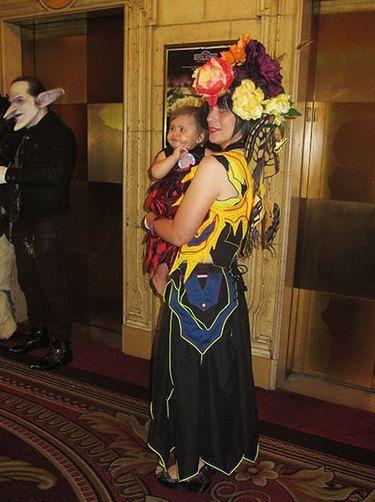 flower Halloween costume adults skirt & holster