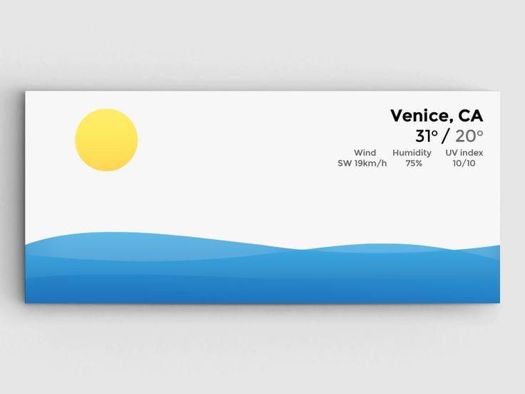 [WIP] Surfing - Weather widget 3 by Alex Kyritsis (London)
