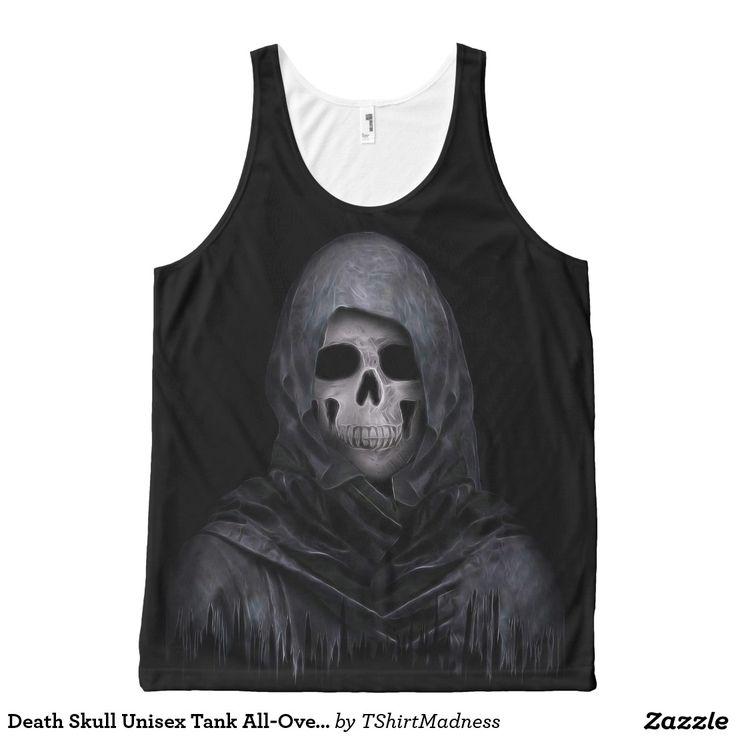 Death Skull Unisex Tank All-Over Print Tank Top