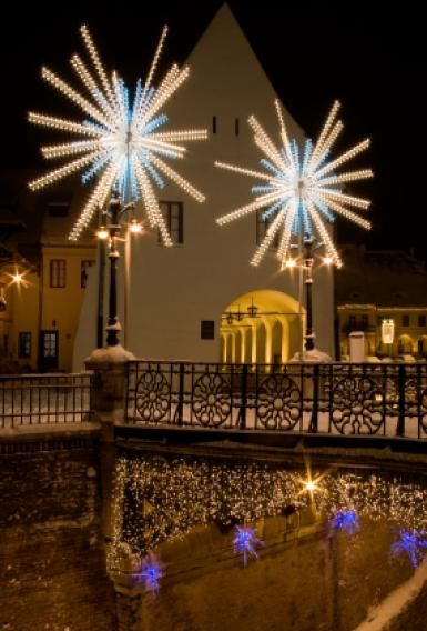 Christmas Lights in Sibiu, Romania - iStockphoto/boerescul
