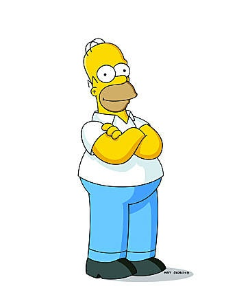 Favourite Cartoon Character - Homer Simpson - such a wonderful character. Me and my dad spent many many hours enjoying his antics. A flawed but lovable guy.