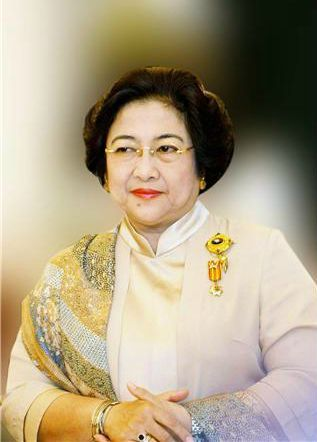 Megawati,  the first female President of Indonesia.