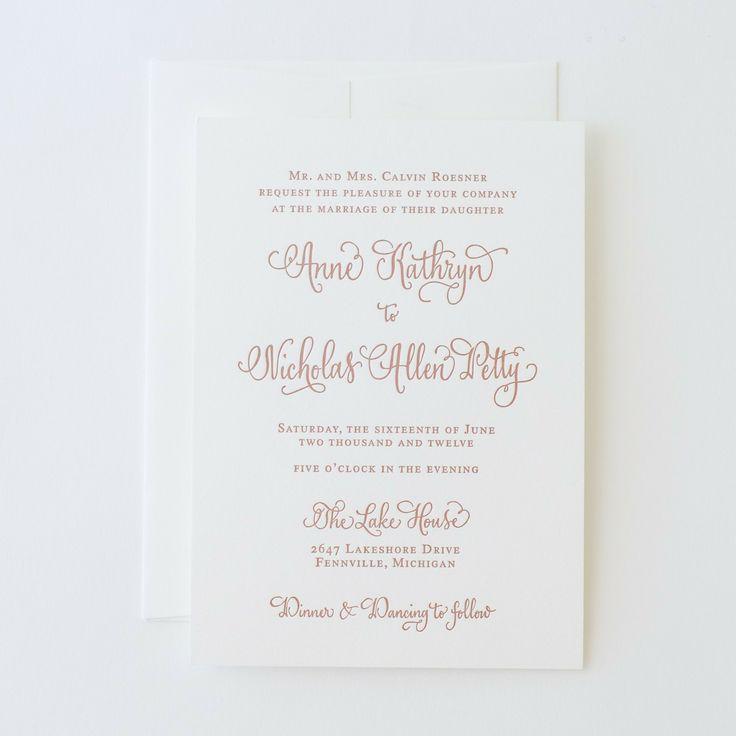"Antiquaria - ""Vintage Calligraphy"" Letterpress Invitation (http://www.shopantiquaria.com/vintage-calligraphy-letterpress-invitation/)"