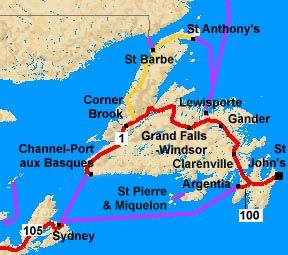 map of newfoundland cities and towns - Google Search