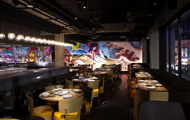 This is where the cool kids hang out. Chotto Matte, in the heart of Soho, is the epitome of what's hot. Japanese graffiti lines the statement walls on both floors, an in-house DJ plays live and the food is a Peruvian-Japanese fusion. Barbecued, sautéed, sushi and tempura. Sharing plates are the house style. Definitely order the padron peppers, sea bass sashimi and octopus for the table. Dessert was a decadent salted caramel chocolate fondant – not one to share.