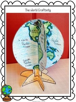 THE WORLD - A GLOBE CRAFTIVITY FOR SOCIAL STUDIES - a fun way to study the continents and major water bodies $