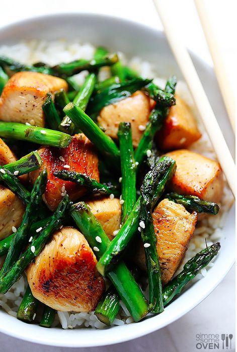 Easy Chicken &; Asparagus Stir-Fry