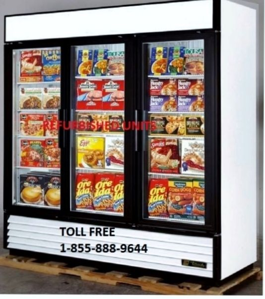 TRUE GDM 72F GLASS DOOR FREEZER ONLY $3699 CAD.  DELIVERY ACROSS CANADA.  PLEASE VISIT OUR WEBSITE FOR DELTAILS. www.ancasterfoodequipment.com