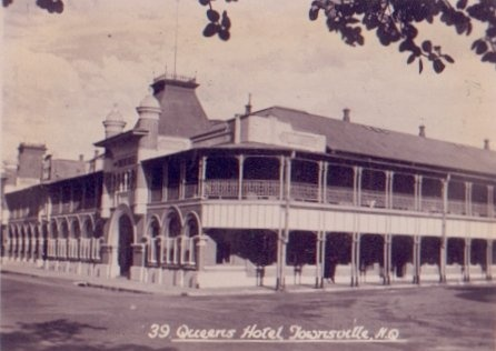Queens Hotel on the Strand, Townsville, used as an American Officer's Club during WW2.