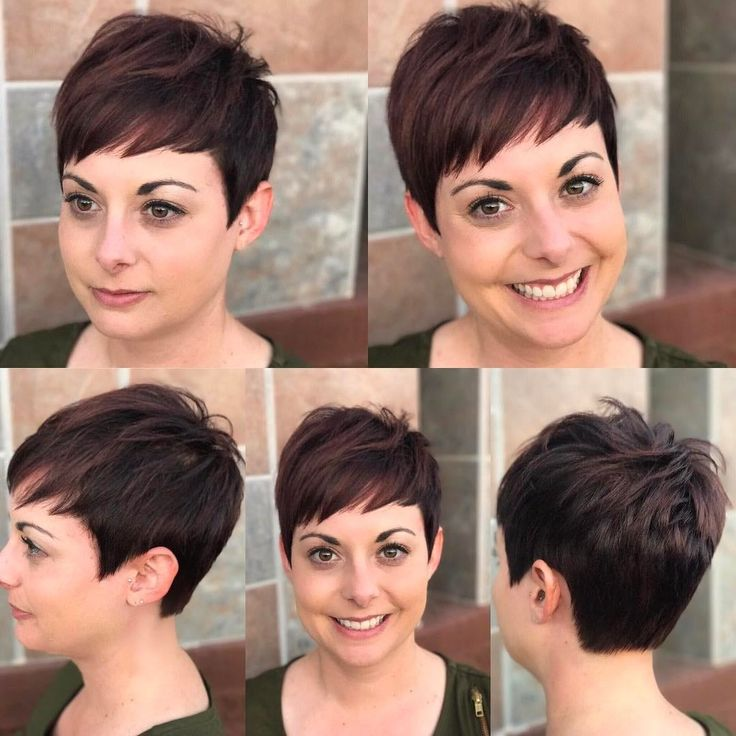 All sizes | Warm Brunette Textured Pixie Crop with Choppy Asymmetrical Bangs | Flickr - Photo Sharing!