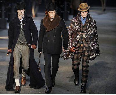 Victorian inspired men's wear by McQueen | Victorian / Neo ...