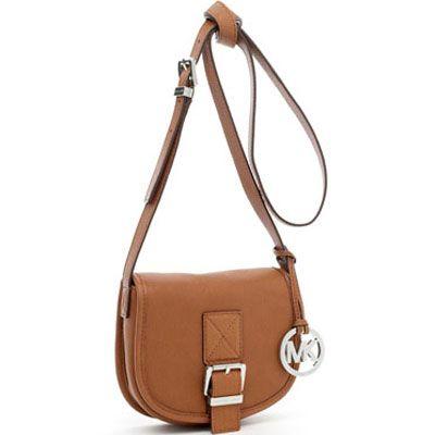 Holiday Favorite Choice,Michael Kors Messenger Handbags,Michael Kors Small Saddle Bag Messenger Luggage Sale-149