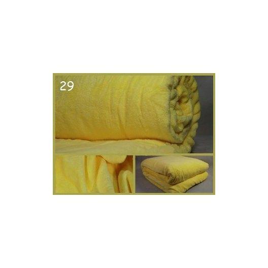 Teplá deka na postel žluté barvy - dumdekorace.cz