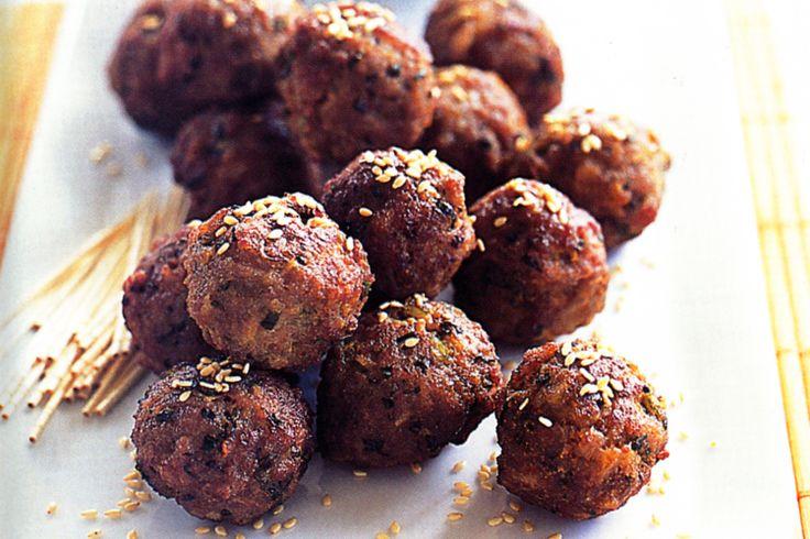 Soy & Sesame Pork Balls Recipe - Taste.com.au