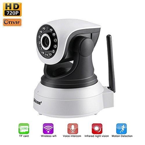 Oferta: 35.99€ Dto: -47%. Comprar Ofertas de LESHP IP WiFi P2P Cámara Video Vigilancia IR Vision nocturna HD 720P con Micrófono y altavoz, Detección de movimiento-sonido, barato. ¡Mira las ofertas!
