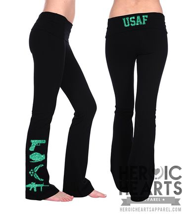 Air Force LOVE Weapons Yoga Pants