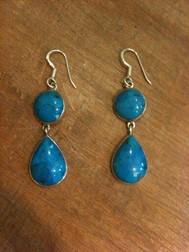 Arizona Firuzesi 925 ayar Gümüş küpelerimiz  #kupe #küpe #earring #earrings #taki #takı #takitasarim #takıtasarım #firuze #turquoise #arizonaturquoise #gem #gemstone #dogaltas #doğaltaş #gems #jewelry #silverjewelry