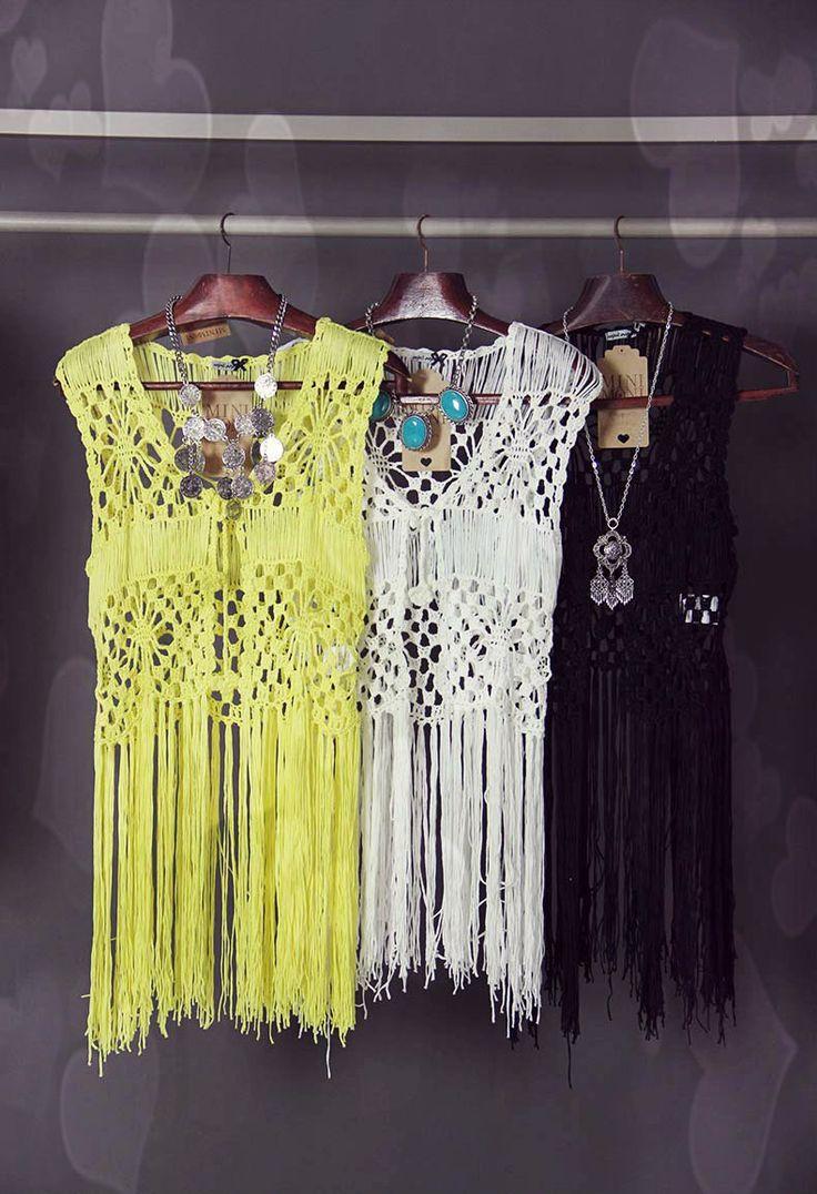 * Pérolas do Crochet: Kimono em Crochet com franjas