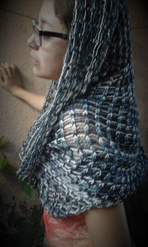 Bufanda Mágica tejida 100% Algodon