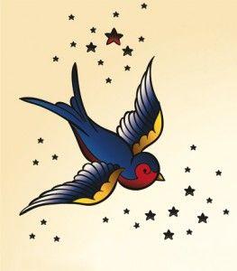 De Zwaluw tattoo heeft eigenlijk als belangrijkste betekenis vrijheid. Reizen, je vleugels uitslaan.