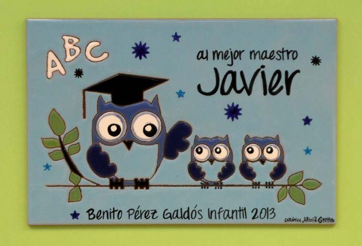 Placas ceramicas de agradecimiento MURALES DE CERÁMICA - TILES AND MURALS OF CERAMIC