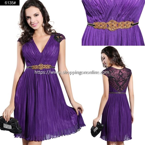 Purple Cocktail Dress - V-neck Cap Sleeves $198.39 (was $247.99) Click here to see more details http://shoppingononline.com/cocktail-dresses/purple-cocktail-dress-v-neck-cap-sleeves.html #PurpleCocktailDress #VNeckCocktailDress #VNeck #CapSleeves #PurpleShortDress #PurpleDress #ShortCocktailDress #CocktailDress