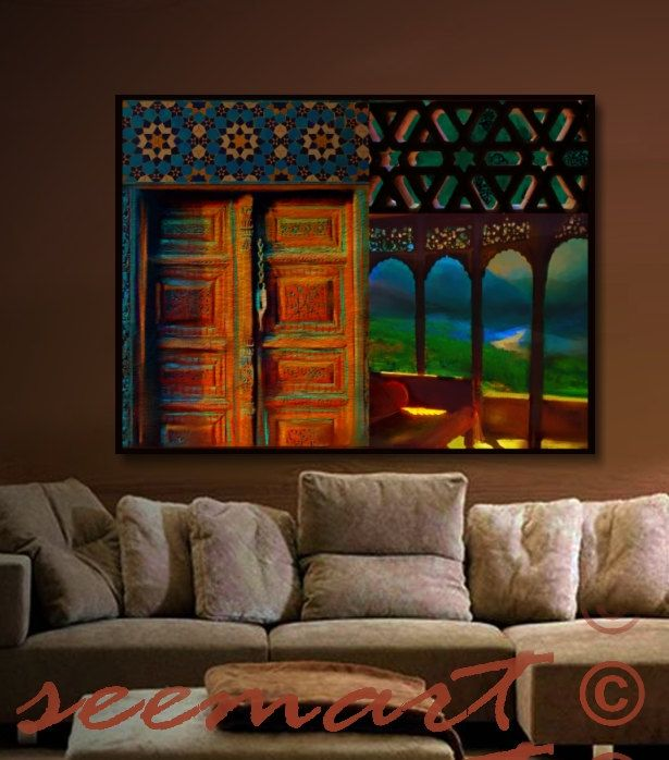 Checkout this amazing product #Canvas Art Print,36x48,Large,Home #Decor,Living room,#Retreat,#Mountain,#Blue/Brown/Ethnic,,$245