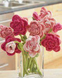 7 Free flower Patterns-Tutorials