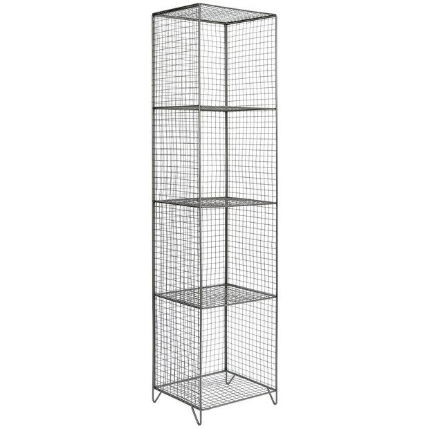 Buy Argos Home 4 Tier Metal Tall Storage Unit Grey Limited Stock Home And Garden Tall Storage Unit Bathroom Shelf Decor Argos Home
