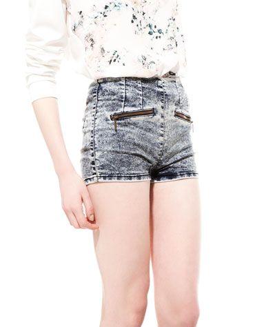 Bershka Российская Федерация - Bershka high waist denim shorts