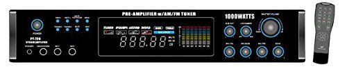 Special Offers - Pyle Home PT720A 1000-Watt AM/FM/Tuner Hybrid Amplifier with 70-Volt Output Built-In Auto Mute Function And Music On Hold Output - In stock & Free Shipping. You can save more money! Check It (July 20 2016 at 09:46PM) >> http://wbluetoothspeaker.net/pyle-home-pt720a-1000-watt-amfmtuner-hybrid-amplifier-with-70-volt-output-built-in-auto-mute-function-and-music-on-hold-output/