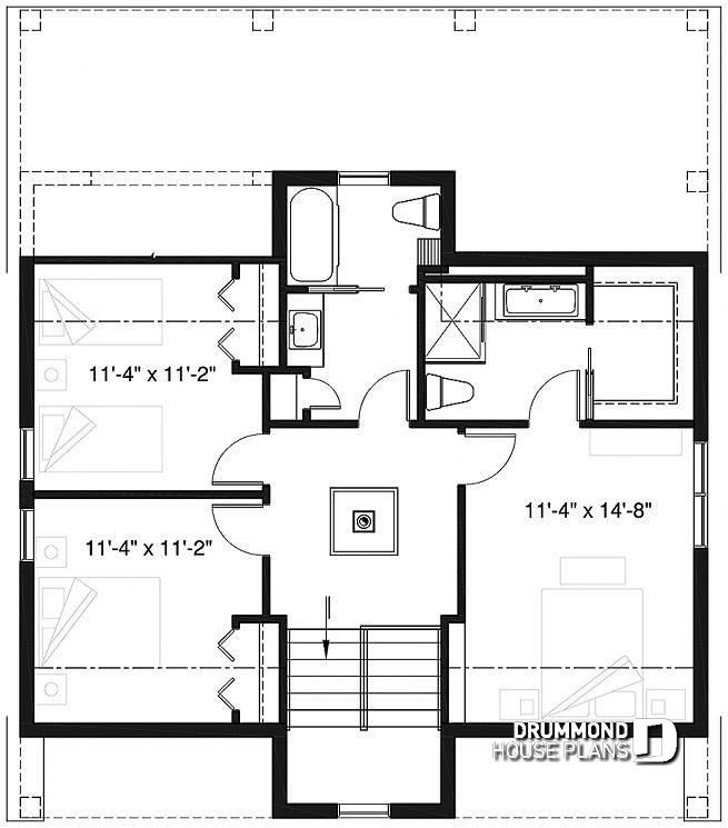 Discover The Plan 1492 V1 Scandi Which Will Please You For Its 3 Bedrooms And For Its Scandinavian Styles House Plans Contemporary House Plans Cottage House Plans