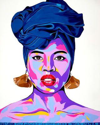 The AfroFusion Spot: Art: Artist Benny Bing, benny, benny bing, art, artist, painter, canvas, creative, nigerian, african, african art, toronto, headwrap, african queen