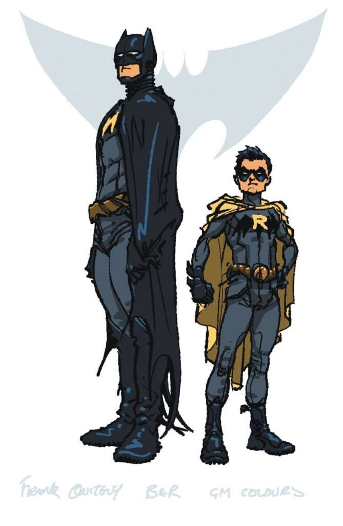 Batman and Robin study by Frank Quitely *