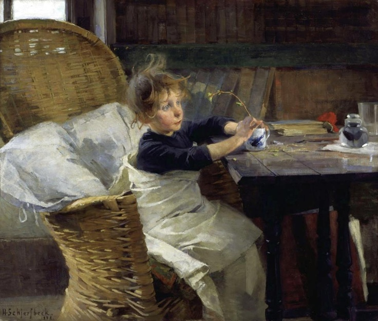 Helene Schjerfbeck (Finnish painter) 1862 - 1946, The Convalescent, 1888, oil on canvas, 92 x 107 cm., Ateneum Art Museum, Aaltonen, Hannu, Finland