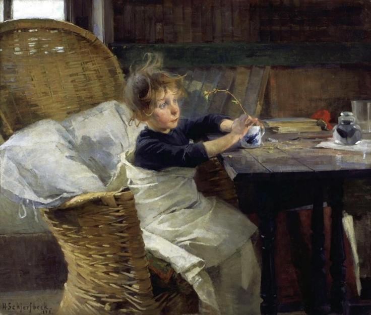 Helene Schjerfbeck (Finnish painter) 1862 - 1946, The Convalescent, 1888, oil on canvas, 92 x 107 cm., Ateneum Art Museum, Aaltonen, Hannu, Finland