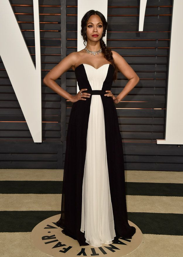 My favorite after party dress! Zoe Saldana | And Here's What Everyone Wore To The Oscars After Parties