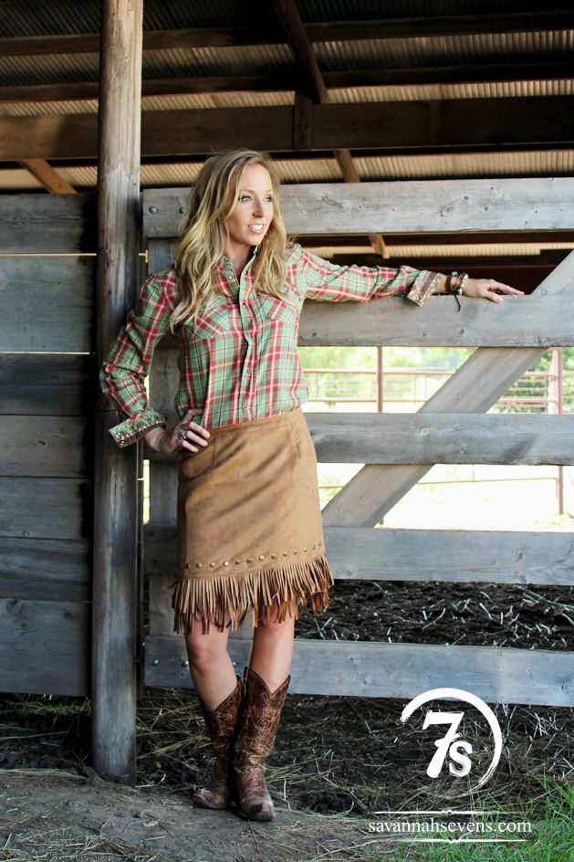 The Henryetta - faux suede fringe skirt from Savannah Stevens. Perfect fall piece for a chic cowgirl.
