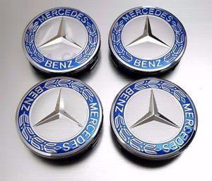 a mercedes clase cl w216 amg centro tapas corona azul oscuro 75 mm talla 4 piezas set