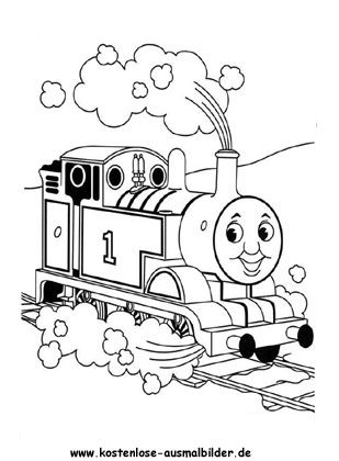ausmalbild thomas die lokomotive | thomas die kleine