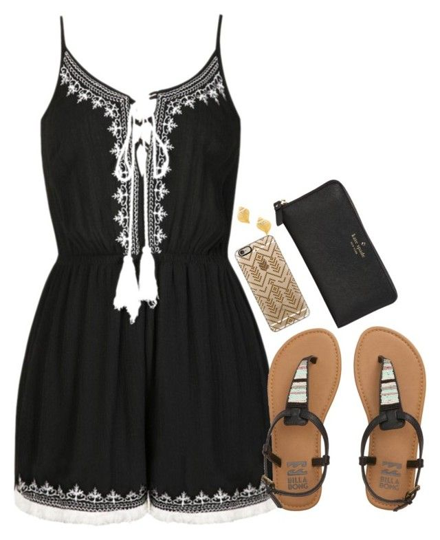 Polyvore featuring Ally Fashion, Billabong, Casetify, Kate Spade and Kenneth Jay Lane