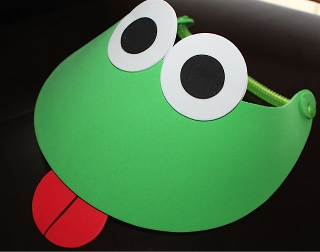 Frog Visor Kit!  No glue or scissors required.  Perfect for all ages!