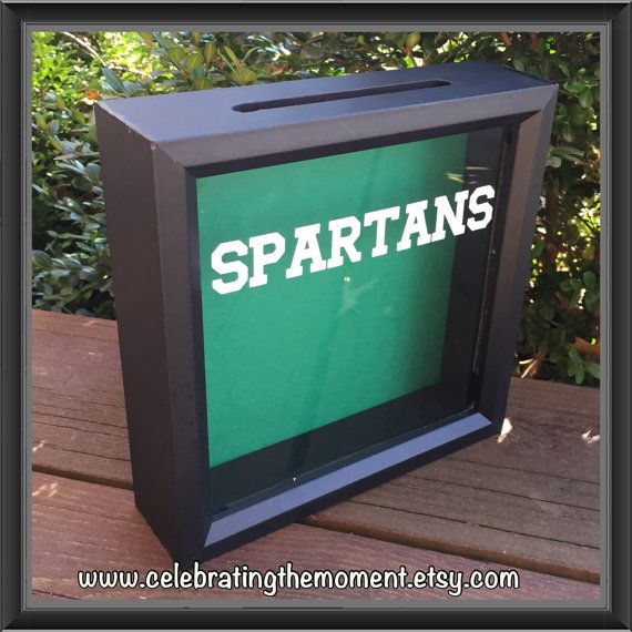Spartans football ADMIT ONE Ticket Shadow Box Ticket Holder