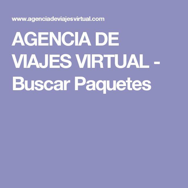 AGENCIA DE VIAJES VIRTUAL - Buscar Paquetes