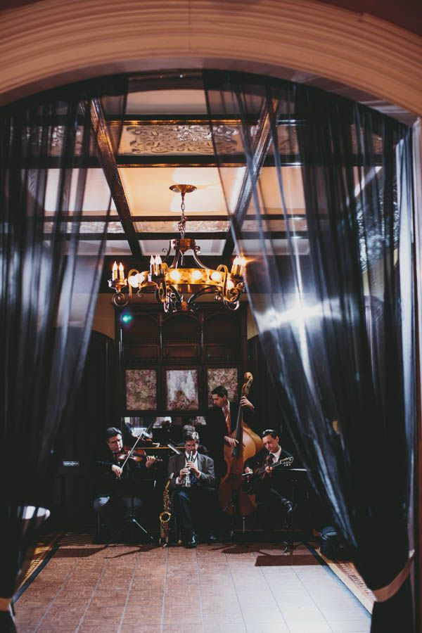 This string quartet added elegance and romance to Katy and Will's wedding reception | Photo by Michael Carr