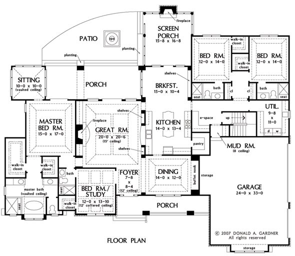 Kids bedrooms with walkin closets and sep baths?  E Space, walk in pantry, mud room, and laundry